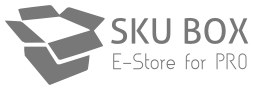 SKUBox logo, footer